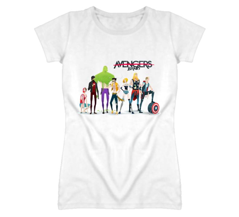 Avengers Superhero Band Cool Funny T Shirt