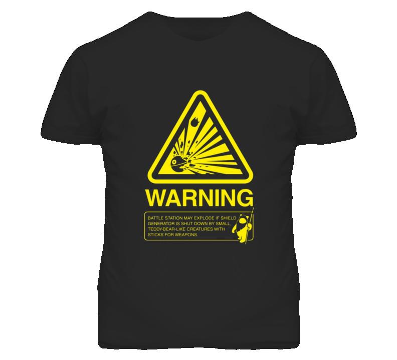 Star Wars Ewok Warning Explosive Cute Funny T Shirt