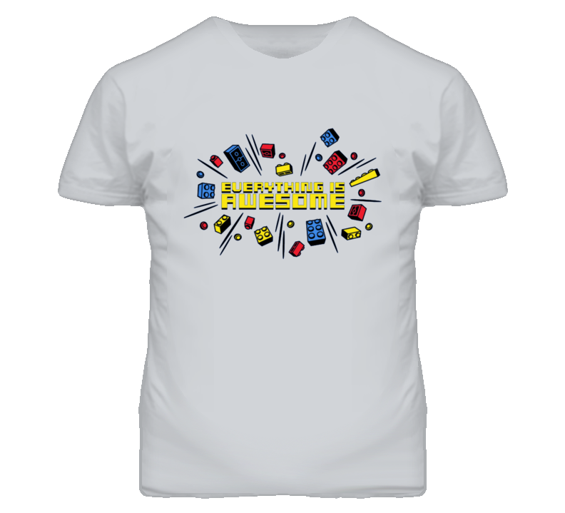 Everything Is Awesome Colourful Lego Toy Movie T Shirt