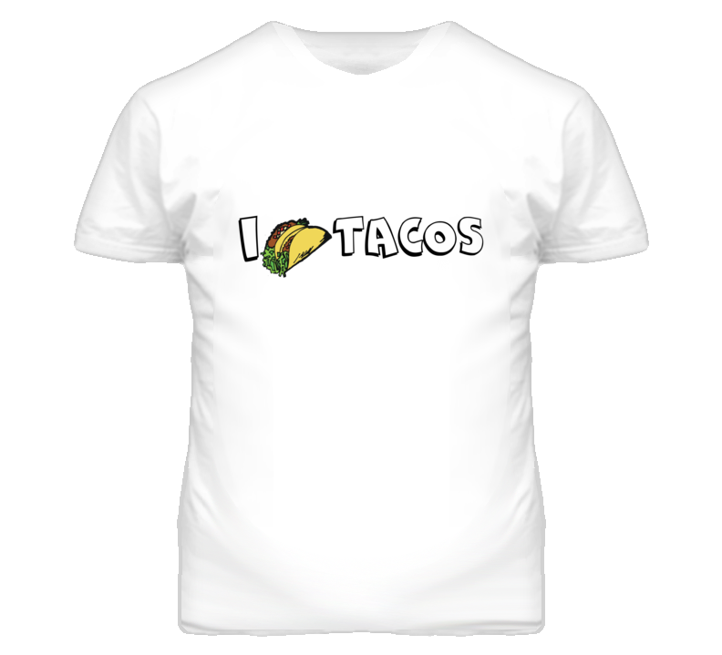 I Love Tacos Funny Simple T Shirt