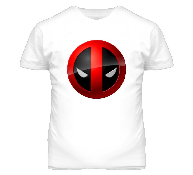 Deadpool Face Shield Comic Book Character T Shirt