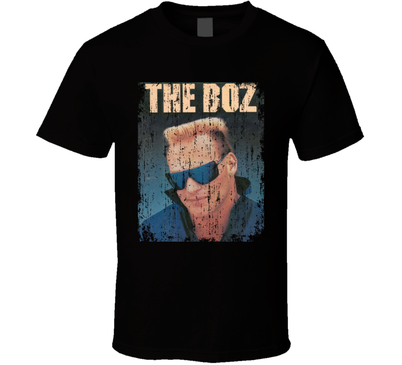 The Boz Brian Bosworth Retro Vintage Distressed Look T Shirt