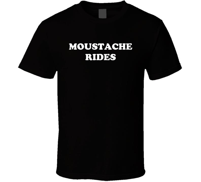 Moustache Rides Sam Elliot Mask Movie Movember T Shirt