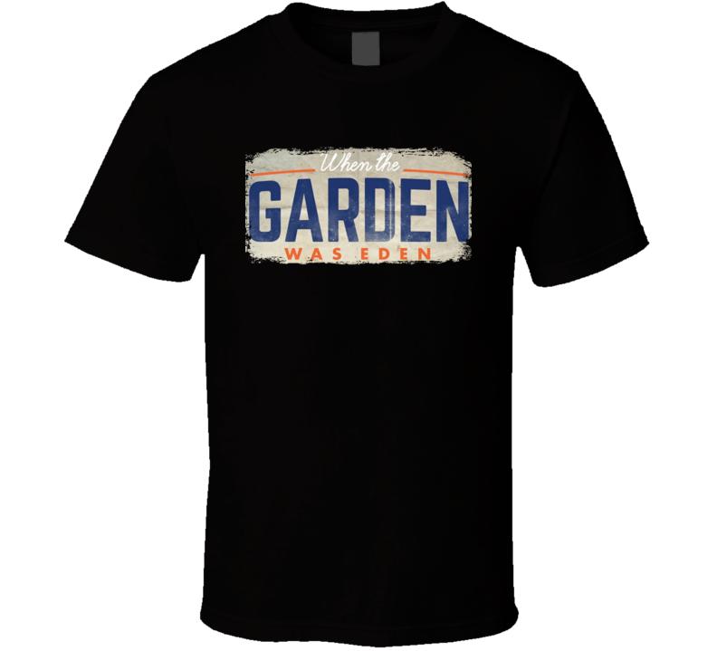 When The Garden Was Eden Vintage Distressed New York Basketball T Shirt