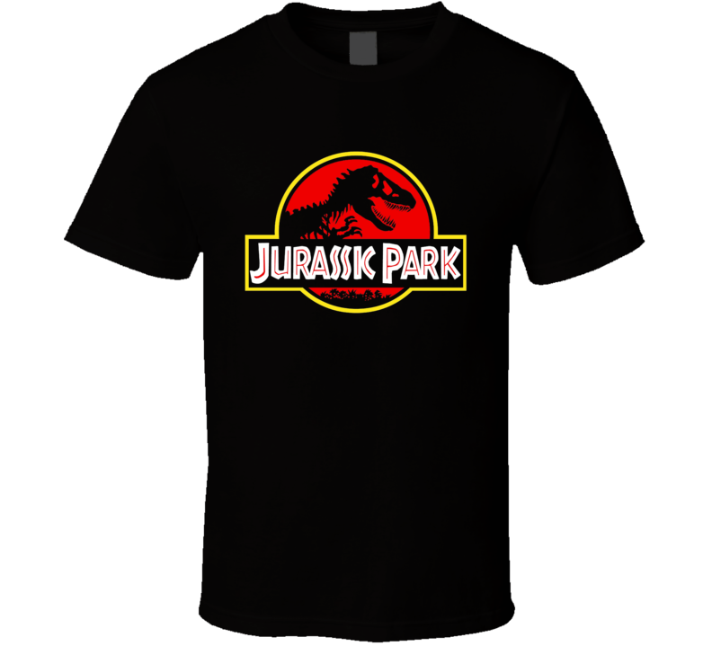 Jurassic Park Classic Dinosaurs Retro Logo Movie T Shirt