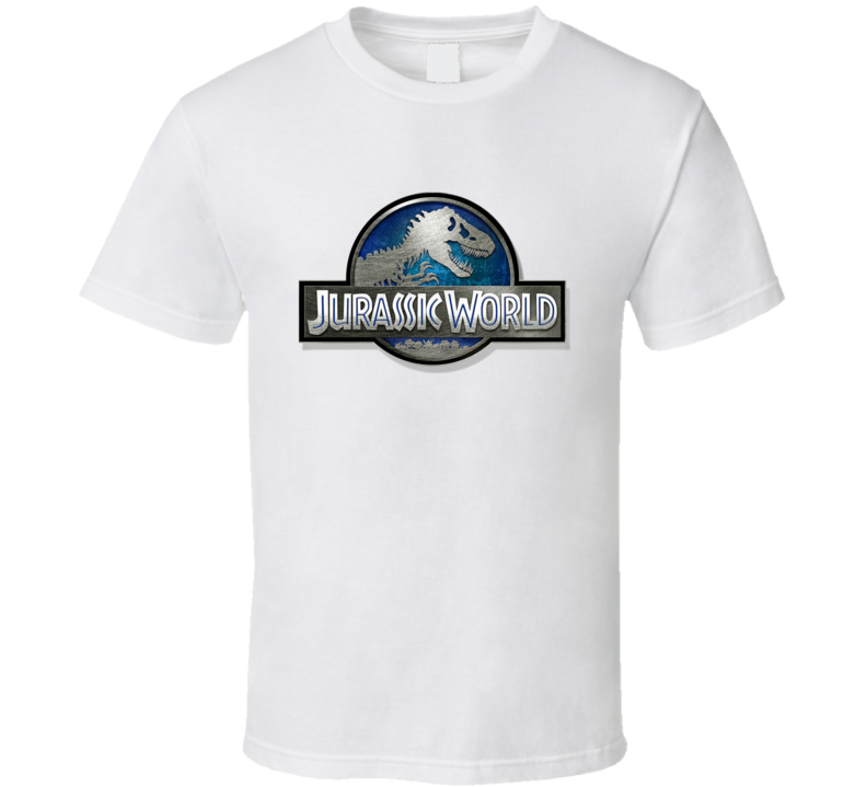 Jurassic World Metal Sign New Movie Logo T Shirt