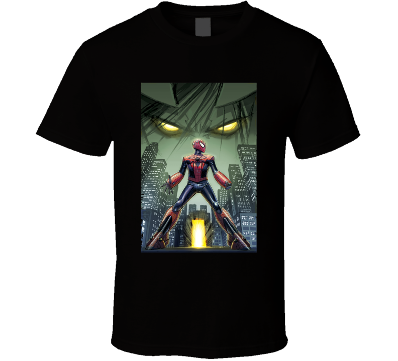 Spider Verse Comic Book Poster T Shirt