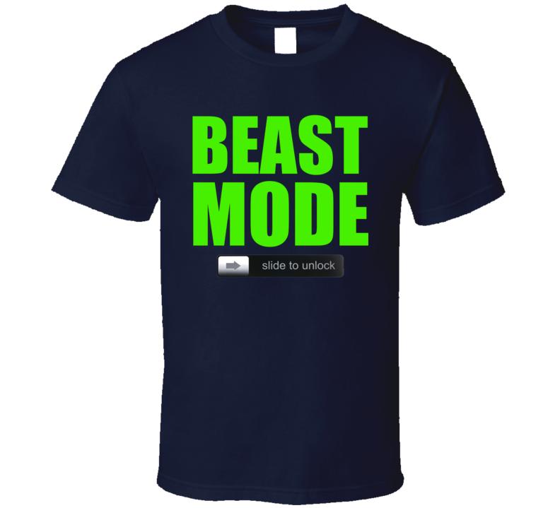 Beast Mode Unlock Seattle Football Marshawn Lynch Fan T Shirt