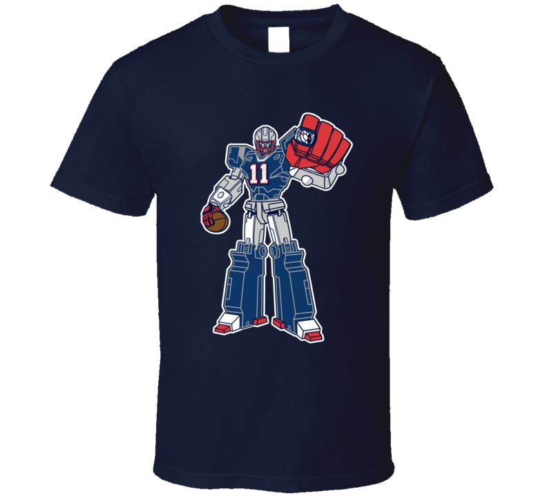 SuperTron Julian Edelman New England Superbowl Football Champ T Shirt