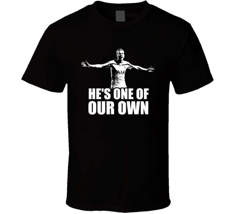 Harry Kane One Of Our Own Tottenham Hotspur Soccer Black T Shirt