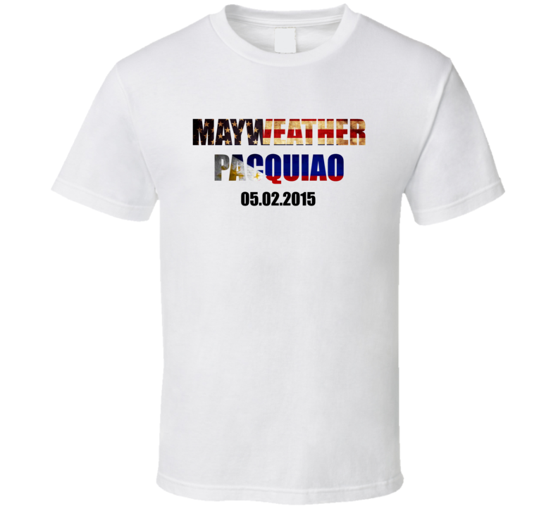 Mayweather Pacquiao May 2015 Title Fan T Shirt
