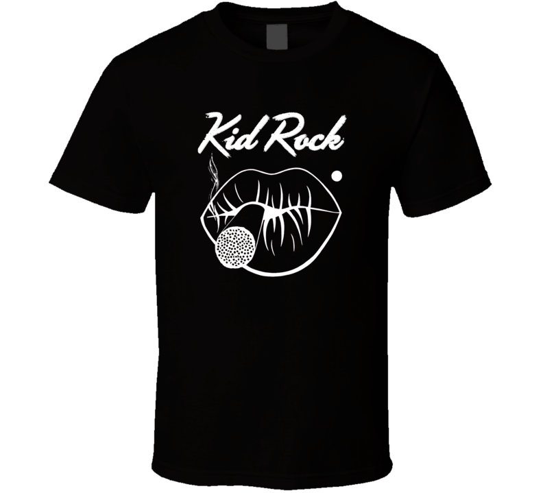 Kid Rock Black And White FIrst Kiss Concert Fan T Shirt