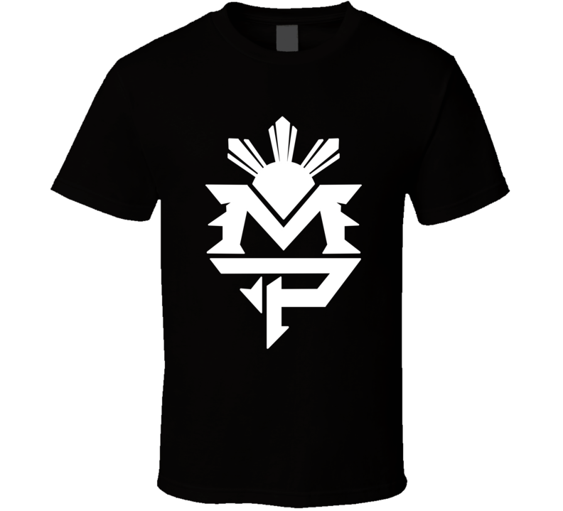 Mayweather Pacquiao M P Initials Logo Fight T Shirt