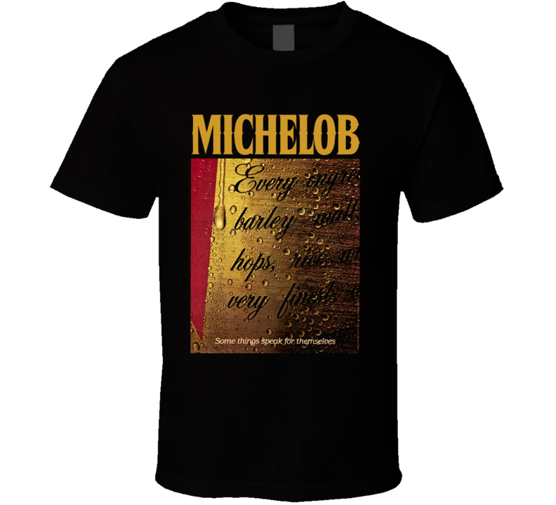 Beer Retro Michelob 1983 Ad Commercial T Shirt