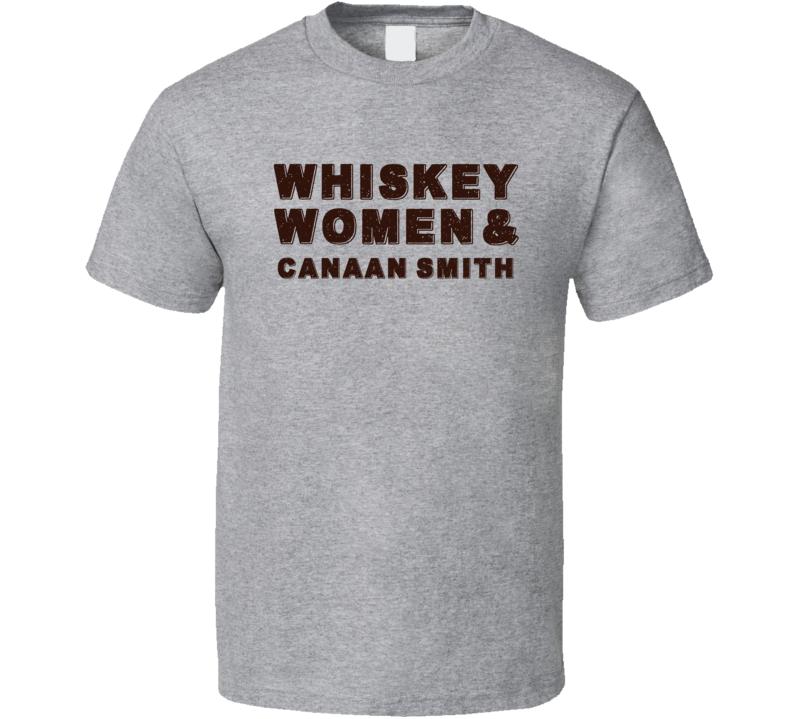 Canaan Smith Whiskey Women Country Music Fan T Shirt