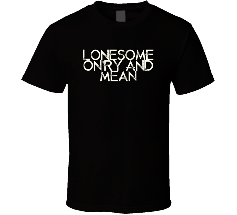 Lonesome Onry And Mean Waylon Jennings Country Music T Shirt