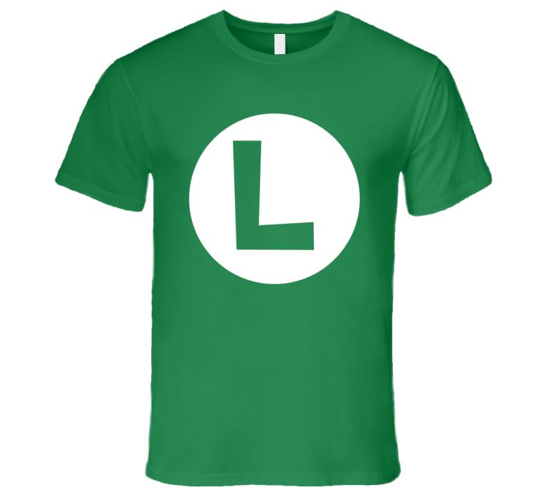 Luigi Logo Funny Video Game Costume T Shirt