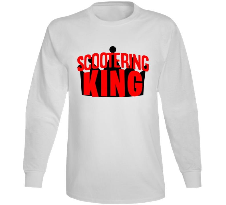 Scootering King Fan Enthusiast Long Sleeve T Shirt