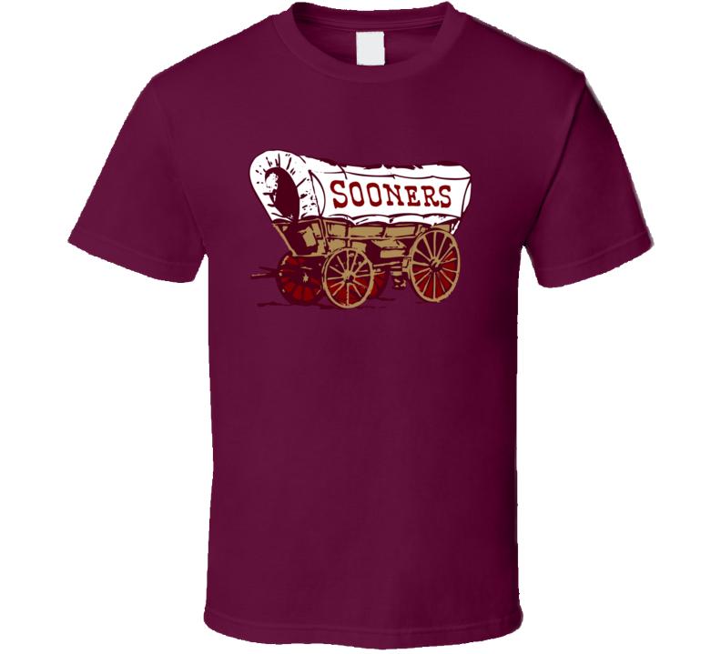 Oklahoma Sooners Sooners Wagon Football Fan T Shirt