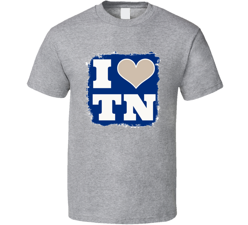 I Love Tennessee Memphis University College Football Fan T Shirt