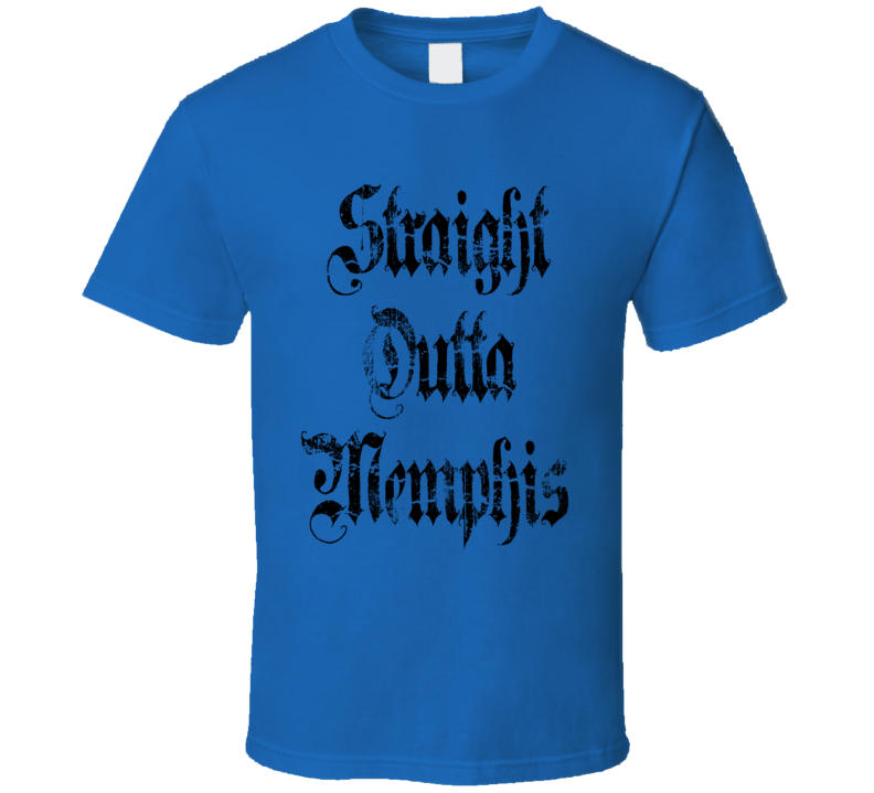 Straight Outta Memphis Tigers Football Fan T Shirt