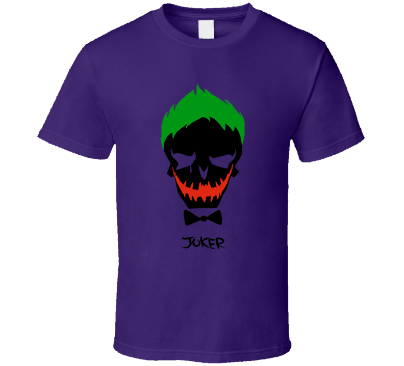The Joker Face Suicide Squad Fan 2016 Movie T Shirt