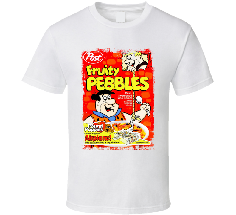 Fruity Pebbles Old Faded Look Cereal Box T Shirt