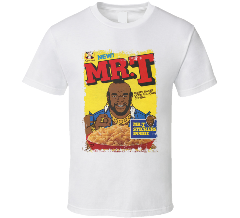 Mr T Official Tv Cereal Box Old Faded Look T Shirt