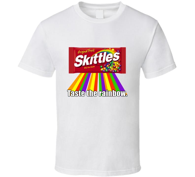 Taste The Rainbow Skittles T Shirt