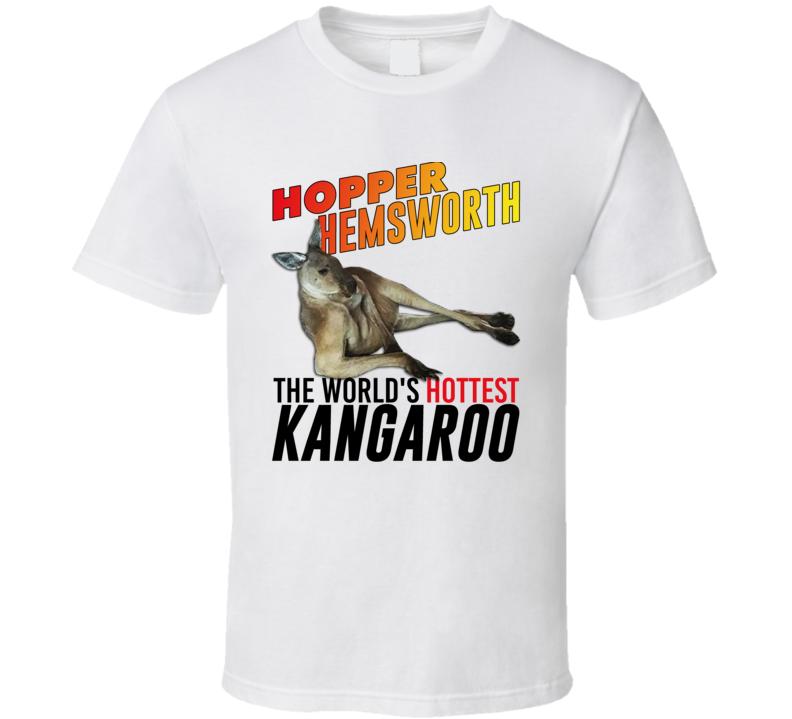 Sexy Kangaroo Aussie Hemsworth James Corden Funny Parody T Shirt
