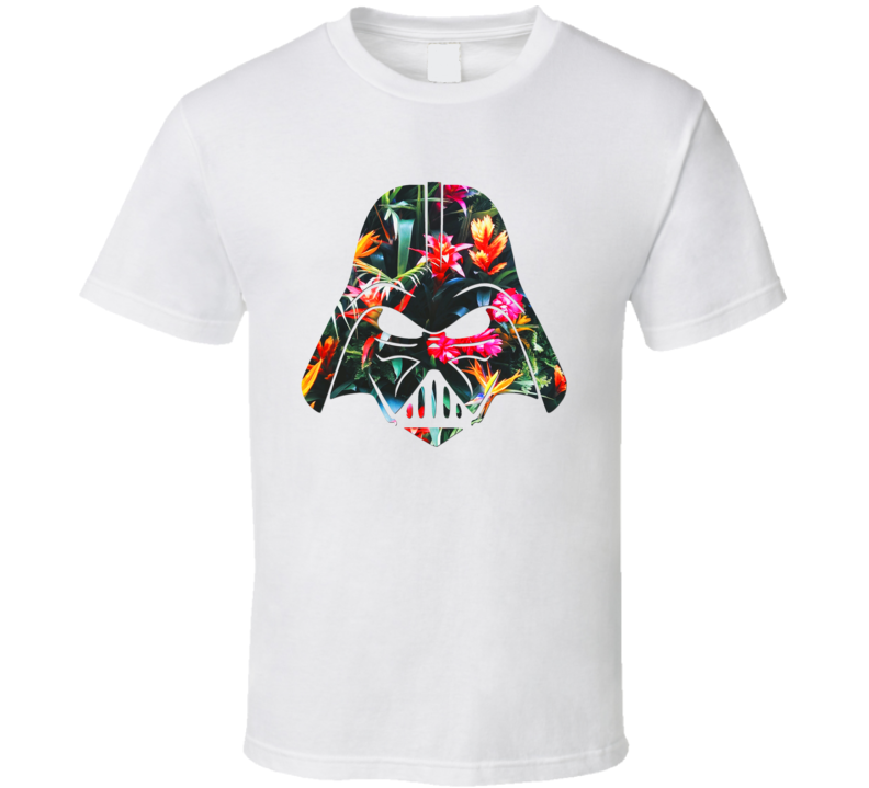 Darth Vader Tropical Flowers Helmet Star Wars Mashup Trending Gift T Shirt