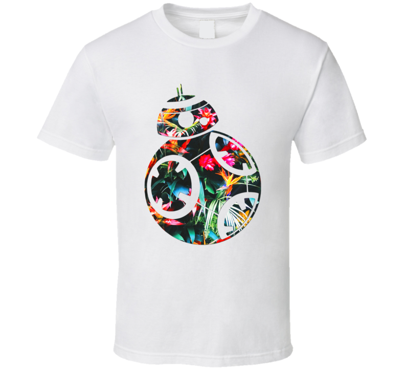 Bb8 Tropical Flowers Robot Star Wars Movie Character Mashup Trending Gift T Shirt