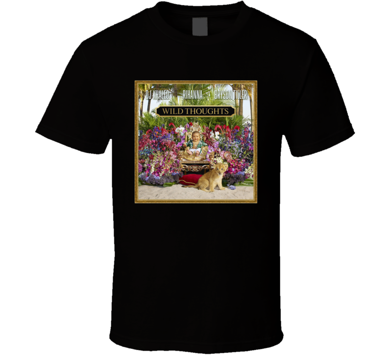 Rihanna Dj Khaled Wild Thoughts Album Cover Music Fan T Shirt