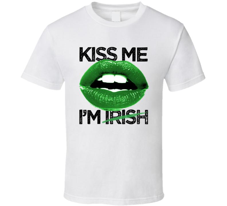 Kiss Me Im Irish Customizable First Name St Patricks Day Drinking Party T Shirt