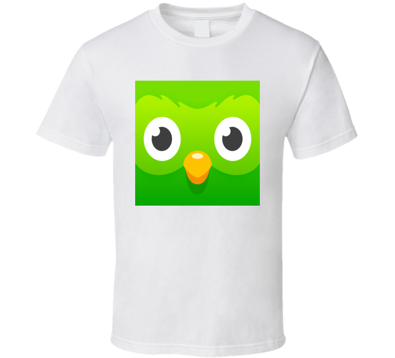 Duolingo Language Translator Study Learning App Icon Logo T Shirt