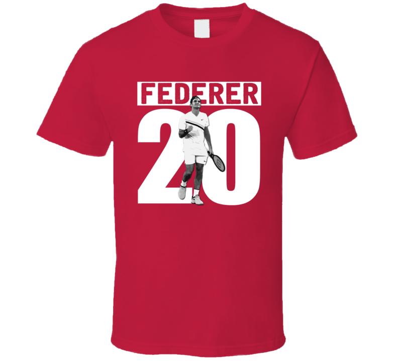 Roger Federer 20 Wins Australian Open Grand Slam Tennis Champion Fan T Shirt
