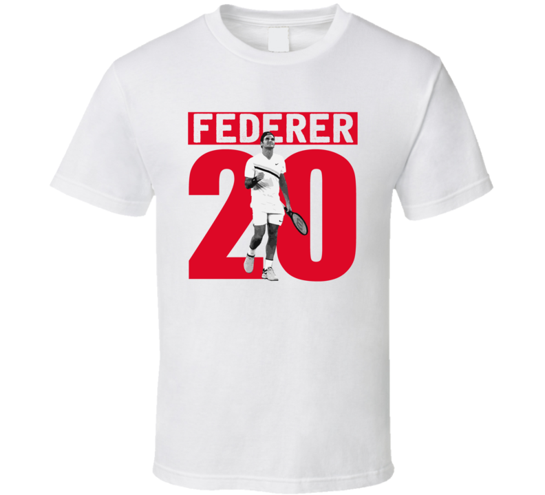 Roger Federer 20 Wins Australian Open Grand Slam Tennis Fan T Shirt