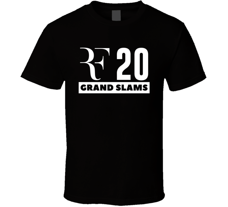 Roger Federer Rf Logo 20 Grand Slams Tennis Player  Fan T Shirt