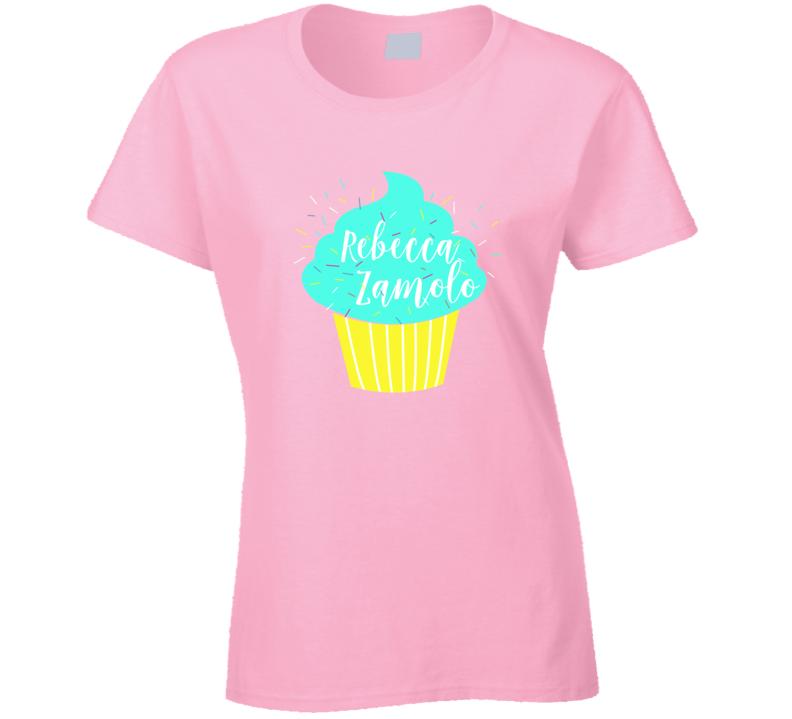 Rebecca Ramolo zamfam Teal Cupcake Trending Popular Youtube Personality T Shirt