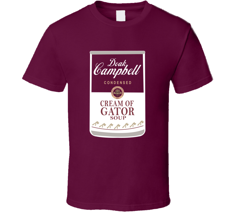 Doak Campbell Condensed Cream Of Gator Soup Florida University Sports Fan T Shirt