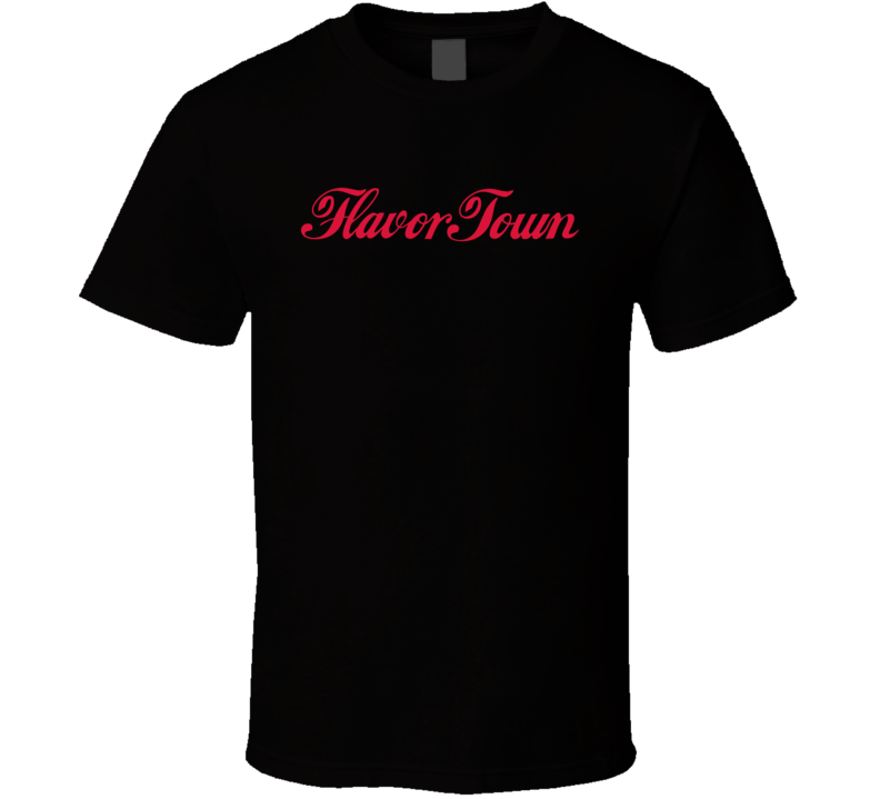 Flavortown Logo Parody Guy Fieri Cooking Chef Food Show Tv Fan T Shirt