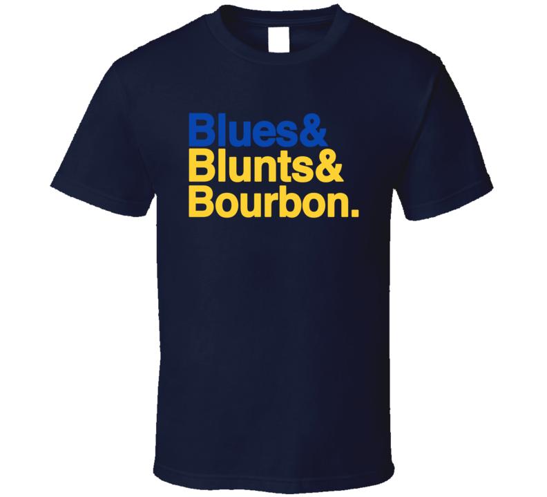 Blunts And Bourbon St Louis Hockey Dj Party T Shirt