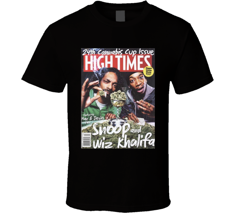 Wiz Khalifa And Snoop Mac And Devin High Times Magazine Stoner T Shirt