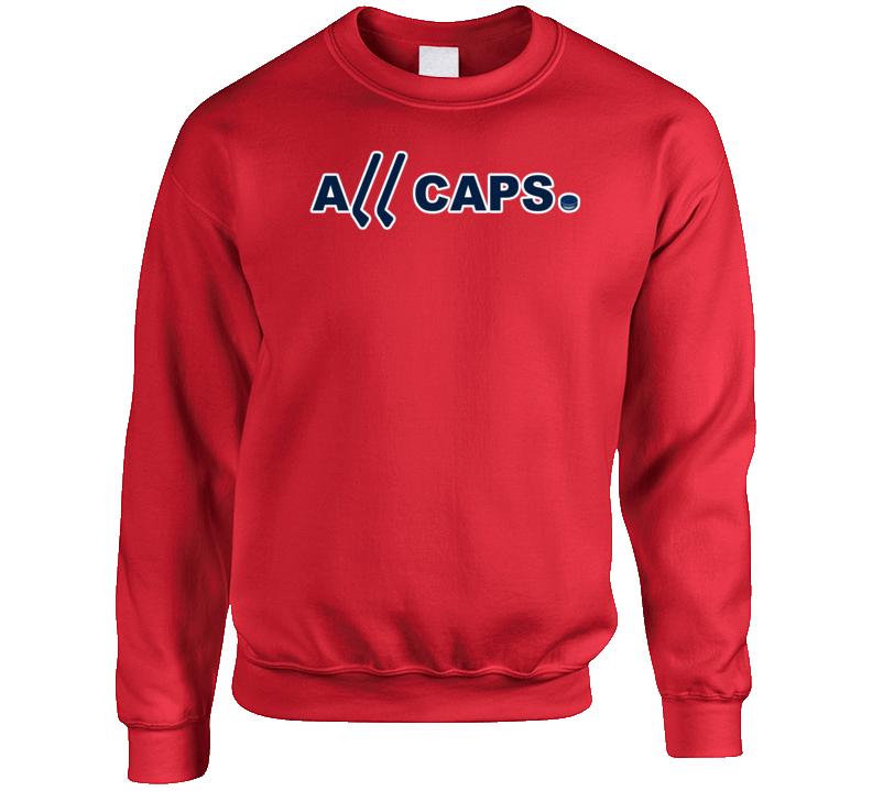 All Caps Washington Hockey Champions Fan Crewneck Sweatshirt