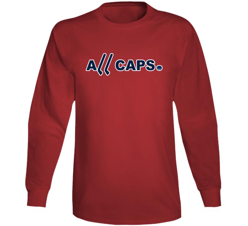 All Caps Washington Hockey Champions Fan Long Sleeve