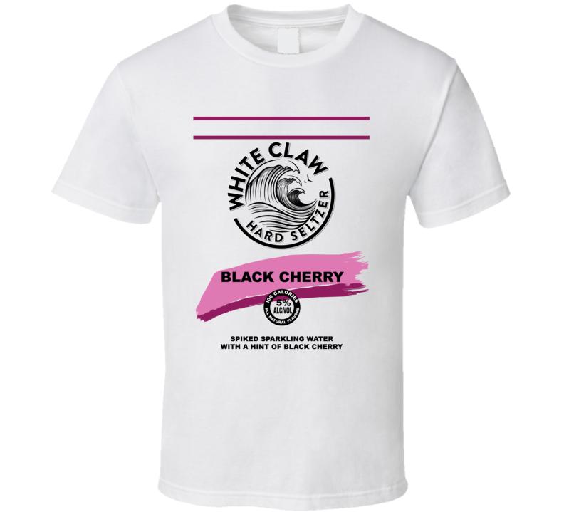 White Claw Black Cherry Hard Seltzer Halloween Costume T Shirt