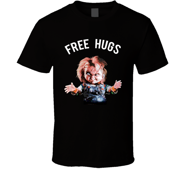 Chucky Free Hugs Childs Play Horror Movie Fan T Shirt