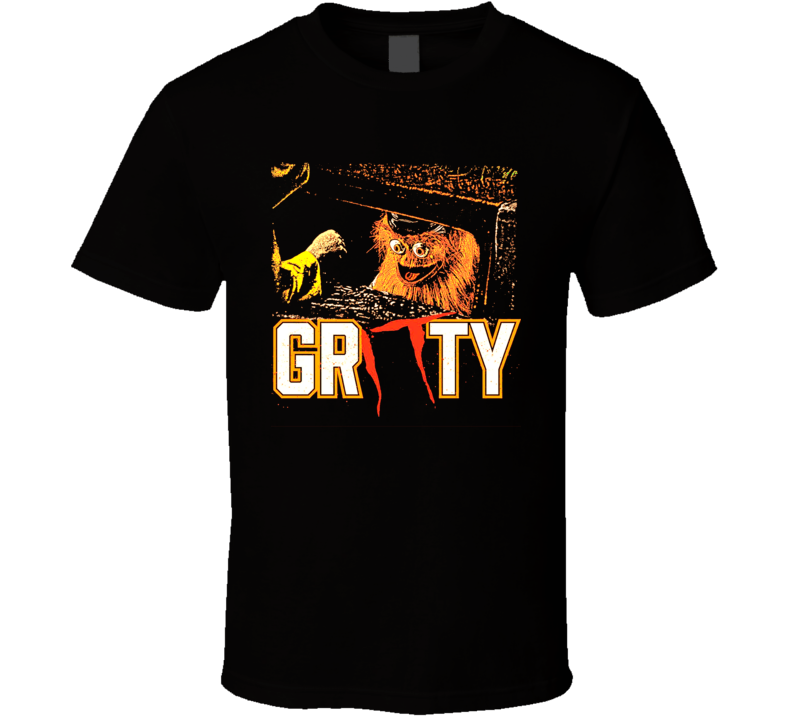Gritty Philadelphia Hockey It Horror Parody T Shirt