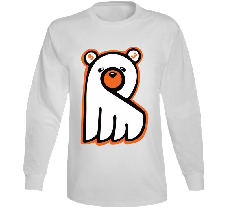 Shayne Gostisbehere Ghost Bear Philadephia Hockey Fan Long Sleeve