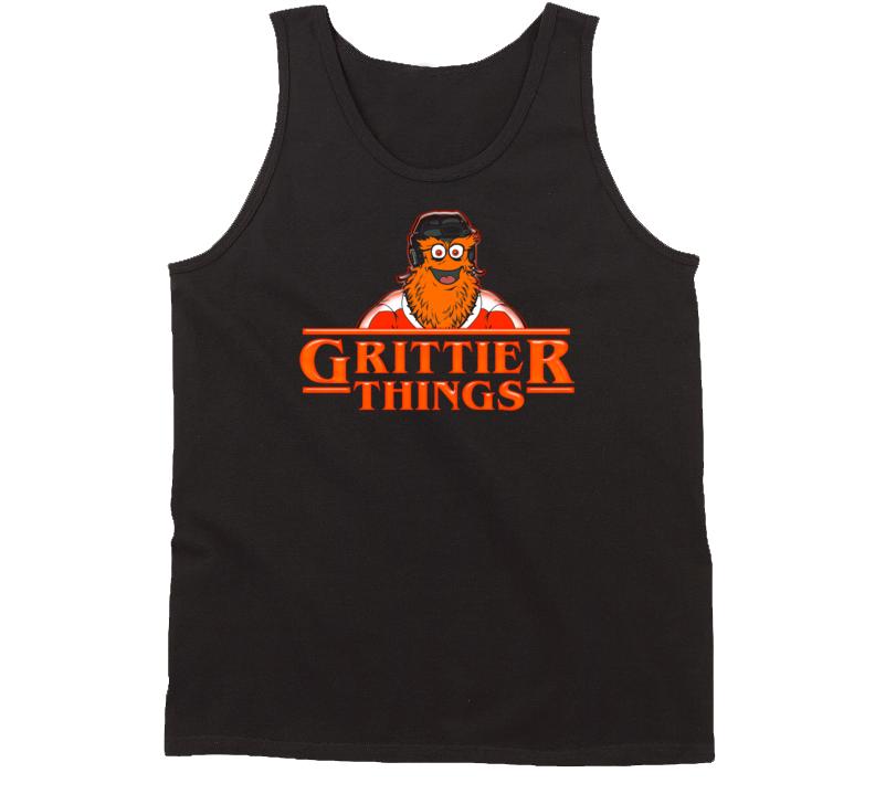 Grittier Things Stranger Things Parody Philadelphia Hockey Tanktop